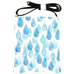Cute Blue Rain Drops Shoulder Sling Bags by Brittlevirginclothing