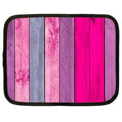 Pink Colored Wood Netbook Case (large) by Brittlevirginclothing