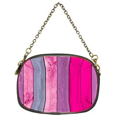 Pink Colored Wood Chain Purses (one Side)  by Brittlevirginclothing
