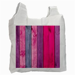 Pink Colored Wood Recycle Bag (two Side)  by Brittlevirginclothing