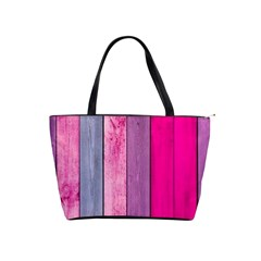 Pink Colored Wood Shoulder Handbags by Brittlevirginclothing