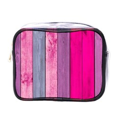 Pink Colored Wood Mini Toiletries Bags by Brittlevirginclothing