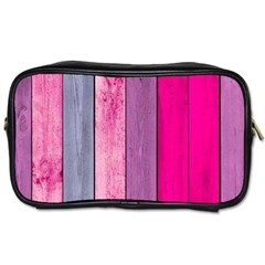 Pink Colored Wood Toiletries Bags by Brittlevirginclothing