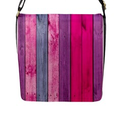 Pink Colored Wood Flap Messenger Bag (l)  by Brittlevirginclothing