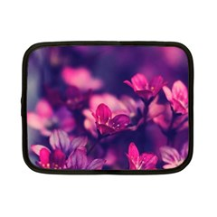 Blurry Violet Flowers Netbook Case (small)  by Brittlevirginclothing