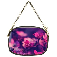 Blurry Violet Flowers Chain Purses (one Side)  by Brittlevirginclothing