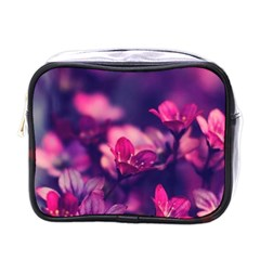 Blurry Violet Flowers Mini Toiletries Bags by Brittlevirginclothing