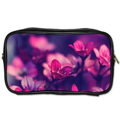 Blurry Violet Flowers Toiletries Bags by Brittlevirginclothing