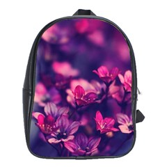 Blurry Violet Flowers School Bags (xl)  by Brittlevirginclothing