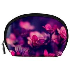 Blurry Violet Flowers Accessory Pouches (large)  by Brittlevirginclothing