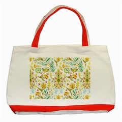 Cute Small Colorful Flower  Classic Tote Bag (red) by Brittlevirginclothing