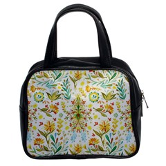 Cute Small Colorful Flower  Classic Handbags (2 Sides) by Brittlevirginclothing