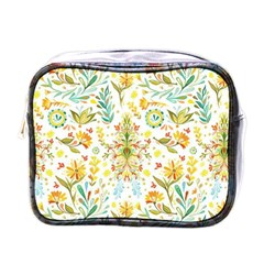 Cute Small Colorful Flower  Mini Toiletries Bags by Brittlevirginclothing