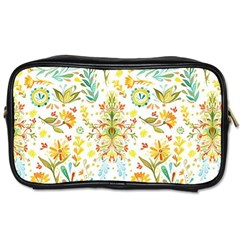 Cute Small Colorful Flower  Toiletries Bags 2 Side by Brittlevirginclothing