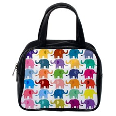 Lovely Colorful Mini Elephant Classic Handbags (one Side) by Brittlevirginclothing