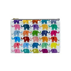 Lovely Colorful Mini Elephant Cosmetic Bag (medium)  by Brittlevirginclothing