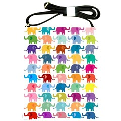 Lovely Colorful Mini Elephant Shoulder Sling Bags by Brittlevirginclothing