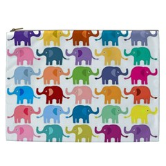 Lovely Colorful Mini Elephant Cosmetic Bag (xxl)  by Brittlevirginclothing