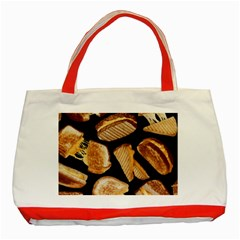 Delicious Snacks  Classic Tote Bag (red) by Brittlevirginclothing