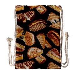 Delicious Snacks  Drawstring Bag (large) by Brittlevirginclothing