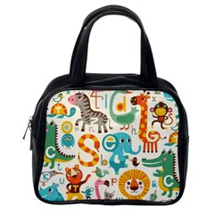 Lovely Small Cartoon Animals Classic Handbags (one Side) by Brittlevirginclothing