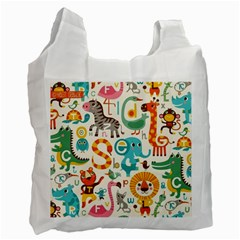 Lovely Small Cartoon Animals Recycle Bag (one Side) by Brittlevirginclothing