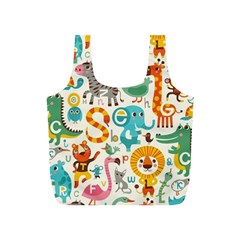 Lovely Small Cartoon Animals Full Print Recycle Bags (s)  by Brittlevirginclothing