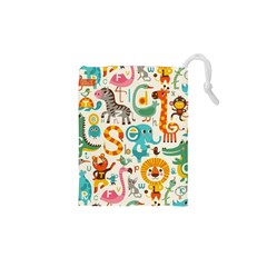 Lovely Small Cartoon Animals Drawstring Pouches (xs)  by Brittlevirginclothing