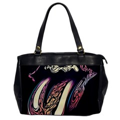 The Rolling Stones Glowing Logo Office Handbags by Brittlevirginclothing