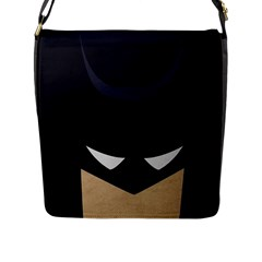 Batman Flap Messenger Bag (l)  by Brittlevirginclothing