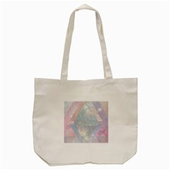 Colorful Pastel Crystal Tote Bag (cream) by Brittlevirginclothing