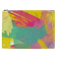 Colorful Paint Brush  Cosmetic Bag (xxl)  by Brittlevirginclothing