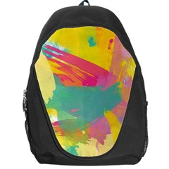 Colorful Paint Brush  Backpack Bag by Brittlevirginclothing