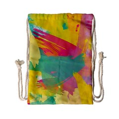 Colorful Paint Brush  Drawstring Bag (small) by Brittlevirginclothing