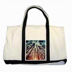 Lovely Up View Forest  Two Tone Tote Bag by Brittlevirginclothing