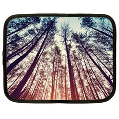 Lovely Up View Forest  Netbook Case (large) by Brittlevirginclothing