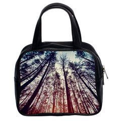Lovely Up View Forest  Classic Handbags (2 Sides) by Brittlevirginclothing