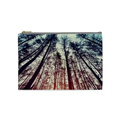 Lovely Up View Forest  Cosmetic Bag (medium)  by Brittlevirginclothing