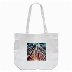 Lovely Up View Forest  Tote Bag (white) by Brittlevirginclothing