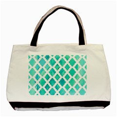 Blue Mosaic  Basic Tote Bag (two Sides) by Brittlevirginclothing