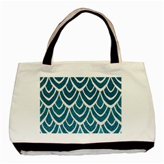 Blue Fish Scales  Basic Tote Bag (two Sides) by Brittlevirginclothing