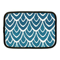 Blue Fish Scales  Netbook Case (medium)  by Brittlevirginclothing