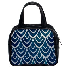 Blue Fish Scales  Classic Handbags (2 Sides) by Brittlevirginclothing
