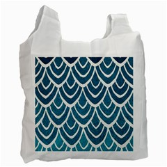 Blue Fish Scales  Recycle Bag (two Side)  by Brittlevirginclothing