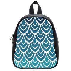 Blue Fish Scales  School Bags (small)  by Brittlevirginclothing