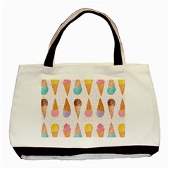 Colorful Ice Cream  Basic Tote Bag (two Sides) by Brittlevirginclothing