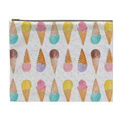 Colorful Ice Cream  Cosmetic Bag (xl) by Brittlevirginclothing