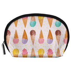 Colorful Ice Cream  Accessory Pouches (large)  by Brittlevirginclothing