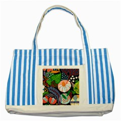 Japanese Inspired  Striped Blue Tote Bag by Brittlevirginclothing
