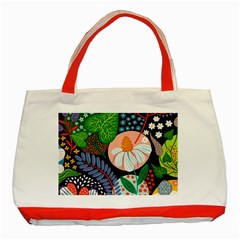 Japanese Inspired  Classic Tote Bag (red) by Brittlevirginclothing